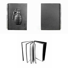 Fashion Cool Grenade Weapon Style Notebook Black Series Paper Notebook 3 types