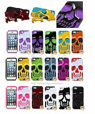 Skeleton Skull Dual Layer Hybrid Armor Hard Case Cover For Apple iPhone 6 6S