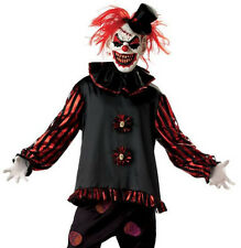 CARVER KILLER CLOWN COSTUME HALLOWEEN EVIL SCARY CREEPY CIRCUS MASK ADULT CHILD