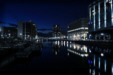 Liverpool's Famous Waterfront Night Capture Photography, The Princes Dock