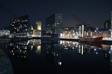 Liverpool's Famous Albert Dock Night Capture Photography, Waterfront Print No 2