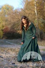 "Medieval Costume , Medieval Renaissance Linen Dress ""Autumn Princess"""