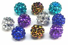 acrylic and resin rhinestone bead, round, 10-16mm,natural gemstone, loose bead
