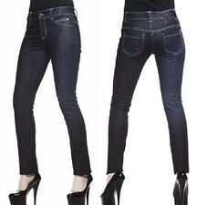 HELL BUNNY SKINNY FIT RAW DENIM JEANS RRP £55 NOW £18.50 (B20C)