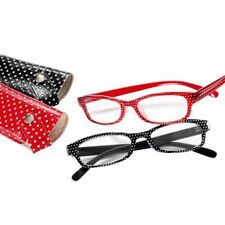 Spotty Plastic Reading Glasses With Case Spectacles +1.0 +1.5 +2. +2.5 +3