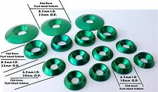 GREEN Aluminum Anodized Washers OTK Tony Kart  18mm, 20mm, 22mm