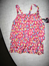 Candy Hearts by Hartstrings-Girls Pink Button Blouse w/ Ice Cream Bar Print-New