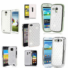 White diamante Case Cover for Various Mobile Phones