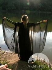 Medieval Costume , Black Mysterious Fantasy Cloak