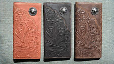 Montana West Mens Leather Western Rodeo Wallet Longhorn Tooled Pick Color BRW010