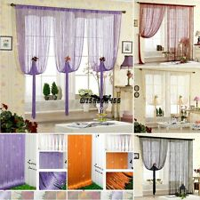 Multicolour DOOR WINDOW SEQUIN SPANGLE FRINGE PANEL ROOM DIVIDER STRING CURTAIN