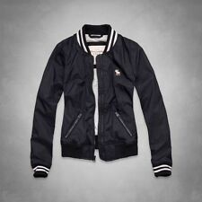 NEW Abercrombie & Fitch Women's Kenzie Baseball Jacket [A&F, Navy] $140