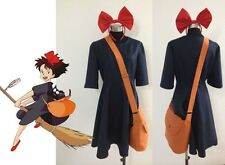 Kiki Delivery Service Cosplay Costume+Bag+Hairband Customize Any Size New