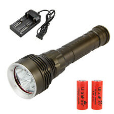 8000Lm Diving 5x CREE XM-L2 LED Torce Lmmersione Luce Subacquea 26650 Batteria