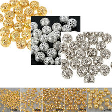 4/6/8mm Wholesale 200/150/100pcs Silver/Copper/Gold Plated Hollow Spacer Beads