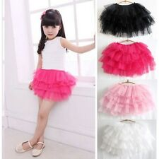 Girls Baby Tutu Petti Skirt Dancewear Princess 6 Layers Skirt 2-6 Years UK