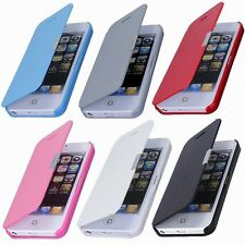Magnetic Leather Flip Hard Case Cover Pouch Skin For Apple iPhone 6 Plus 5 5S 4S