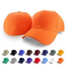 Plain Fitted Curved Visor Baseball Cap Hat Solid Blank Color Caps Hats Size New