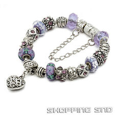 Complete Snake Chain Silver /P European Bracelet With Charm Beads - eART Designs