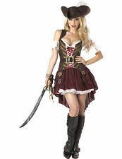 Ladies Sexy Swashbuckler Caribbean Pirate Lady Fancy Dress Costume