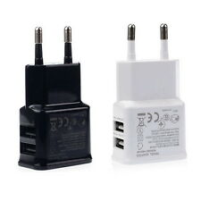 2A Dual 2Ports USB EU Wall Charger Adapter for Samsung iPhone HTC MOTO DX