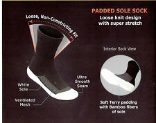 Orthofeet Diabetic Bamboo Fiber Padded Sole Socks- Package of 3 pairs