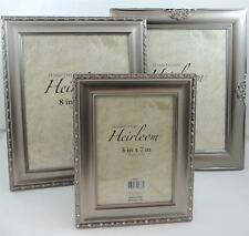 HomeTrends Heirloom Brushed Silver 8X10 or 5X7 Picture Frames