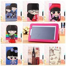 """Folio Universal Cartoon Leather Case Cover For Android Tablet 7"""" 8"""" 9"""" 9.7"""" 10"""""""