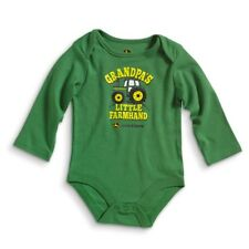 John Deere Green Newborn 100% Cotton Bodyshirt Grandpa's Little Farmhand LP51047