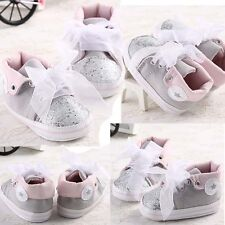 Newborn Baby Shoes Girl Toddler Infant Lace Soft Sole Sneakers Bebe Shoes S M L