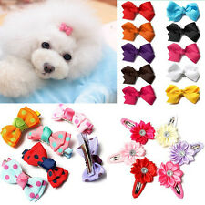 Multicolor Christmas Gifts Flower Bow Candy Pet Dog Cat Puppy Grooming hair gift