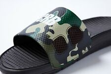 NIKE BENASSI SOLARSOFT FCRB SP VELVET BROWN CAMO 682908-212 NEW SIZE: 9 10 11