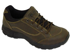 MENS BROWN RUGGED OUTBACK LACE-UP CASUAL WALKING TRAINERS HIKING SHOES SIZE 6-12