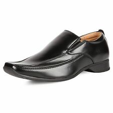 Goor Mens M334 Black Slip On New Mens Formal Leather Cheap Office Shoes Boots