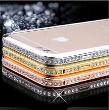 Crystal Rhinestone Diamond Bling Metal Bumper Case For iPhone 6/6s 4.7 Plus 5.5