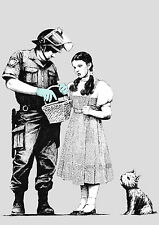 BANKSY STOP AND SEARCH WALL ART - ONE PIECE POSTER