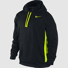 $50 Nike 465784-018 Men's Therma-FIT KO 2.0 Training Hoodie Black Volt All Size