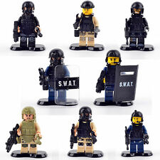 LEGO MINI FIGURE AND CUSTOM S.W.A.T. Building Block Toys Special Weapons