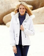 TRESPASS WHITE FAUX FUR TRIM  HOODED JACKETS SIZES 12/14 16/18 20/22 28/30