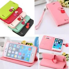 "Cute Wristlet Flip Leather Case +Soft TPU Cover For iPhone 6 Plus 5.5"" / 6 4.7"""