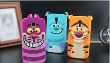 For Samsung Galaxy S3 mini S4 mini 3D Sulley Cheshire Carton Silicone Phone Case