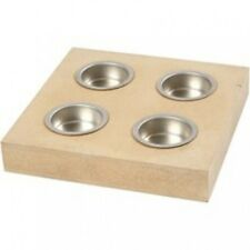 TEALIGHT Tea Light HOLDER STAND Plain MDF Cube, Star or Square ready to decorate