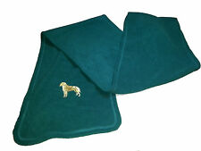 Unisex Fleece Scarf with Embroidered Image of Dog - Can be personalised -