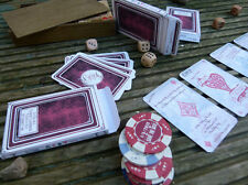 Unique Wedding Invitations Poker / Casino / Vegas Vintage Playing Cards in box