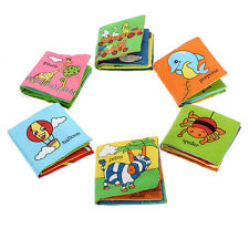 NEW Soft Cloth Baby Kids Children Intelligence Development Picture Cognize Book