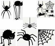 "SPIDER IMAGES  Vinyl Decals  Black    U Choose Size (4"",6"",8""10"") & Design (1-7)"