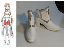 Sword Art Online Asuna Yuuki Cosplay Costume White Shoes Boots New HK Shipping