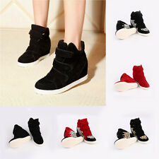 Casual Ladies Athletic Shoes Nubuck Increasing Shoes Magic Tape Shoe