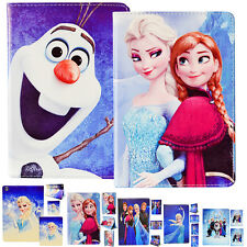 Frozen Cartoon Leather Pu Wallet Stand Holder Case Cover Apple iPad 234 Air Mini