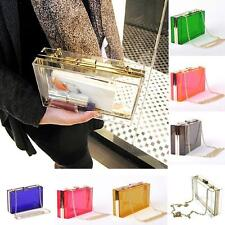 Women Clutch Purses Evening Small Bag Box Handbag Shining Lady Business Bag Gift